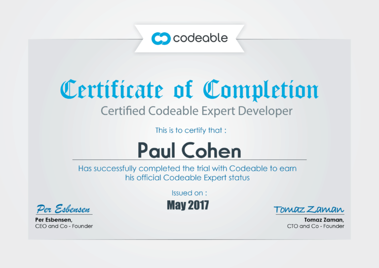 Codeable Certificate May 2017